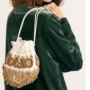 Free People Beaded Embellished Pouch